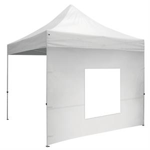 10' Wide Tent Window Wall with Zipper Ends - White Only