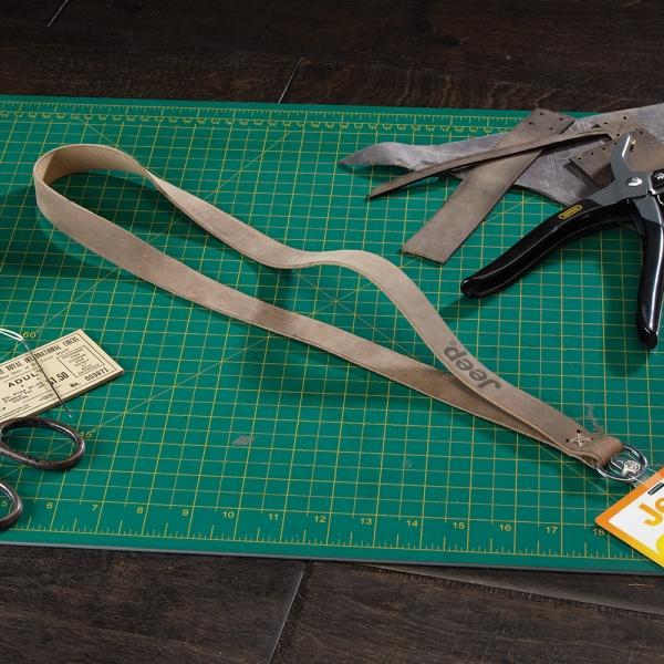 ROPER Leather Lanyard w/ Metal Split-ring