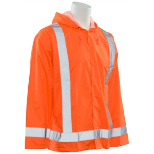 Rain Jacket with Attached Hood (Class 3)