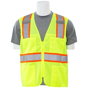 Class 2 Solid Front Mesh Back Safety Vest
