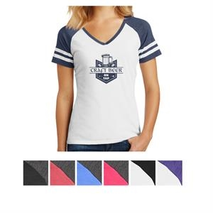 District Made Ladies' Game V-Neck Tee