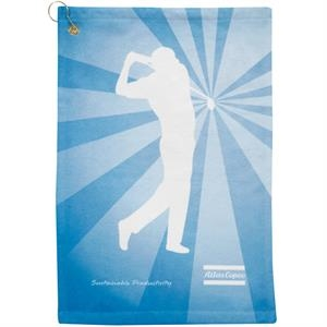 Subi-Cotton Terry Velour Golf Towel w/Sublimation