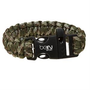 Paracord Camouflage Bracelet with Whistle