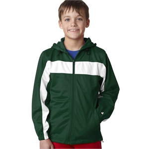 Youth Brushed Tricot Hooded Jacket