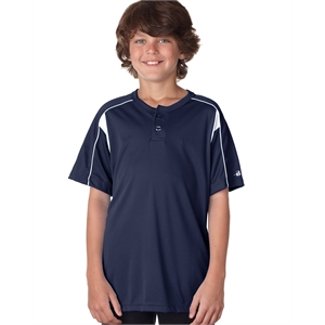 Youth Pro Placket Two-Button Jersey