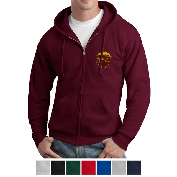 Hanes® EcoSmart Full-Zip Hooded Sweatshirt
