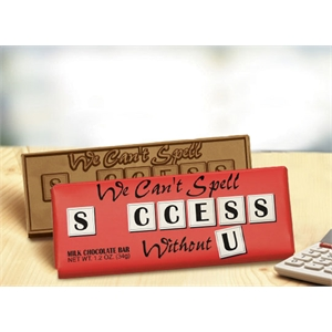 We Can't Spell Success Without U Chocolate Bar