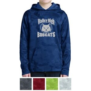 Sport-Tek Youth Sport-Wick CamoHex Fleece Hooded Pullover