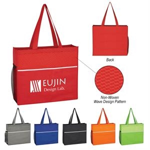 Non-Woven Wave Design Tote Bag