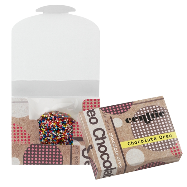 Chocolate Covered Oreo® Box With Rainbow Sprinkles