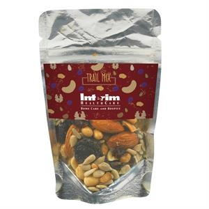 Resealable Clear Pouch With Trail Mix