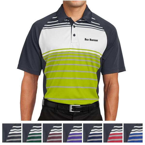 Sport-Tek Dry Zone Sublimated Stripe Polo