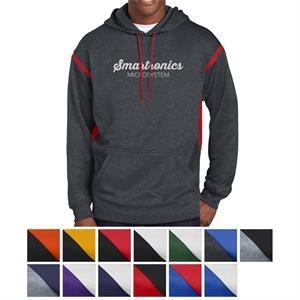 Sport-Tek Tall Tech Fleece Colorblock Hooded Sweatshirt