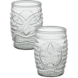 Tiki Glass - Deep Etched