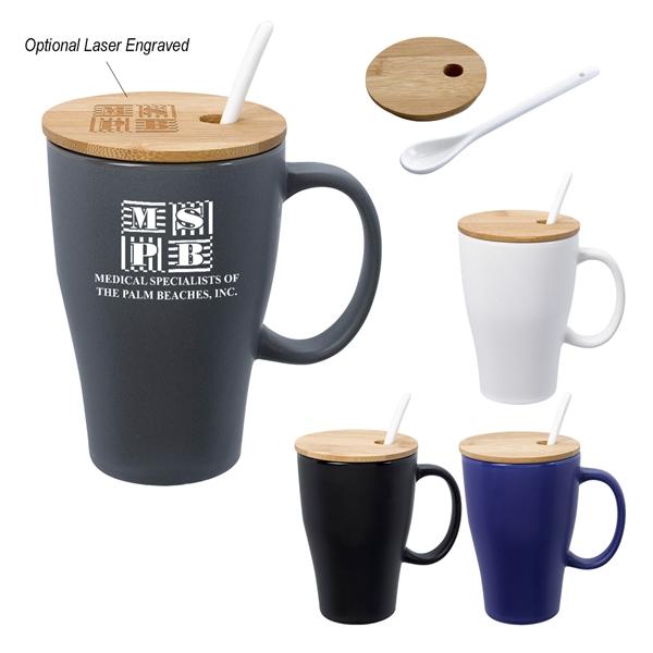 12 Oz. Spooner Mug With Bamboo Lid