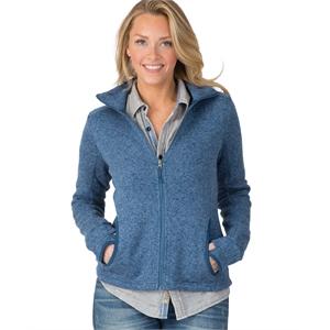 Womens Heathered Fleece Jacket