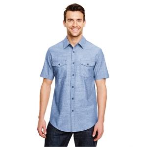 Mens Chambray Woven Shirt