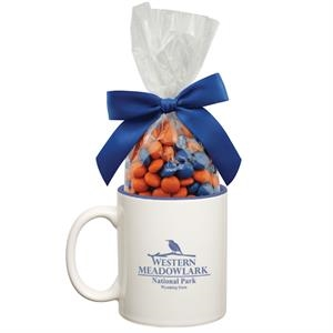 Ceramic Mug with Candy (Two Tone Colors and Cobalt Blue)