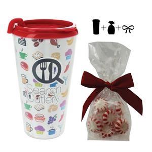 16 oz. Plastic Travel Mug with 4 Color Insert