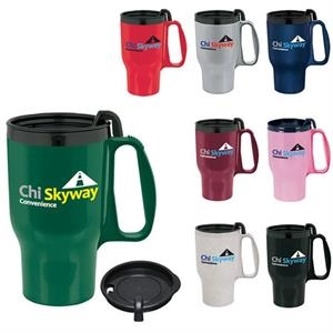 Budget Traveler Mug with Slider Lid - 16 oz