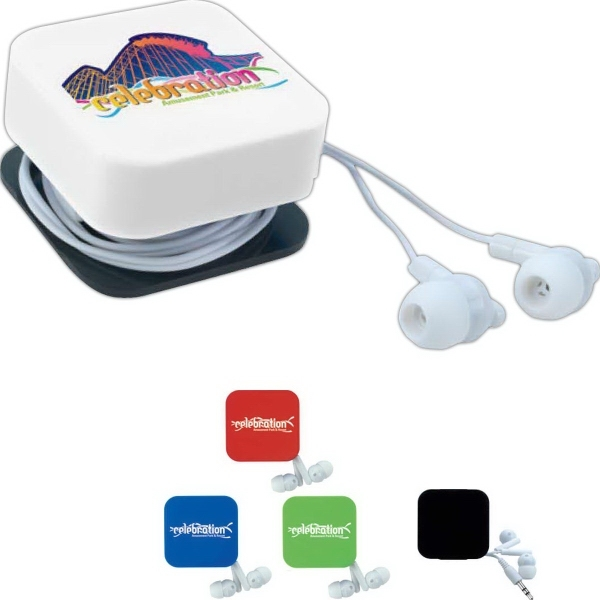 Earbuds with Cord Keeper and Screen Cleaner
