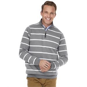 Adult Crosswind Quarter Zip Print Sweatshirt