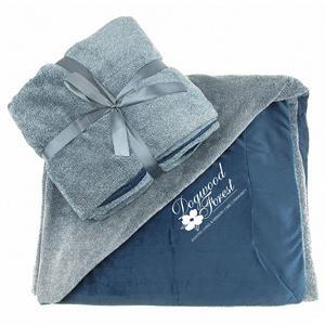 Reversible Ultra Plush Blanket-Denim