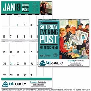 The Saturday Evening Post Big Block Memo 2019 Calendar