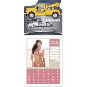 Full Color Stick Up, Swimsuit Grid 2019 Calendar