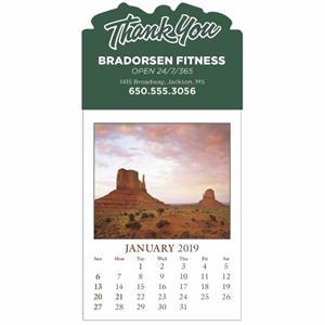 Scenic Stick Up Grid 2019 Calendar