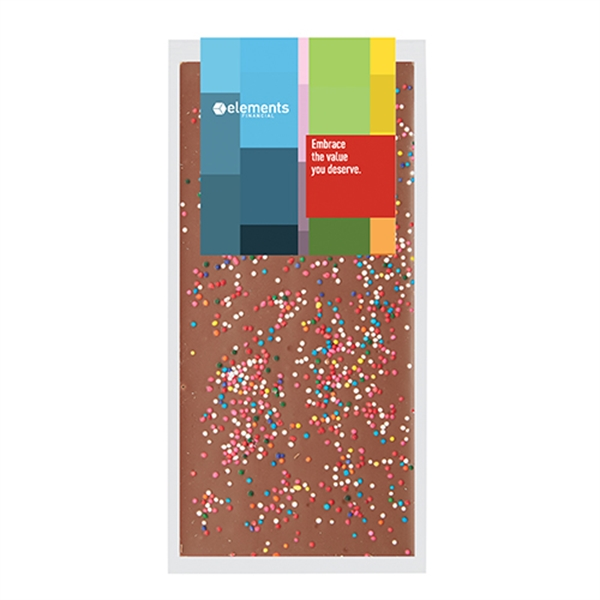 Belgian Chocolate Bars - Rainbow Sprinkles - 3.5 oz