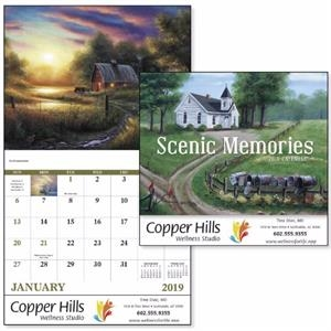 Stapled Scenic Memories 2019 Appointment Calendar