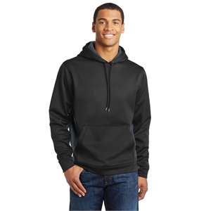 Sport-Tek Sport-Wick CamoHex Fleece Colorblock Hooded Pul...