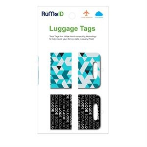 RuMeID Luggage Tag Set with Retail Packaging
