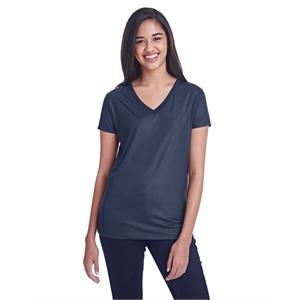 Threadfast Apparel Ladies' Liquid Jersey V-Neck T-Shirt