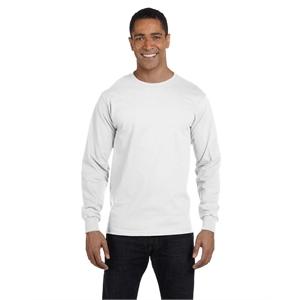 Hanes® Men's 5.2 oz. ComfortSoft® Cotton Long-Sleeve ...