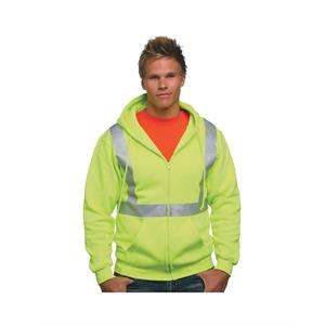 Bayside (R) Hi-Visibility Full Zip Hooded Sweatshirt