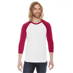 American Apparel® Unisex Poly-Cotton USA Made 3/4-Sleev...