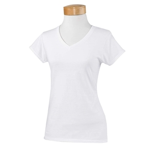 Softstyle® Ladies' SoftStyle® 4.5 oz. Fitted V-Neck T...