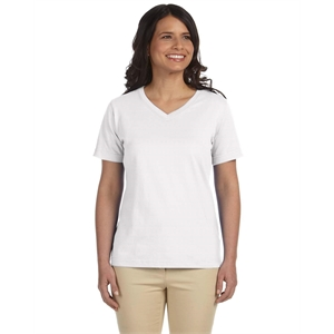 LAT Ladies' V-Neck Premium Jersey T-Shirt