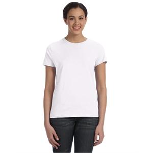 Hanes® Ladies' 4.5 oz., 100% Ringspun Cotton nano-T® ...