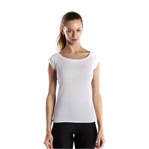 US Blanks® Ladies' 3.8 oz. Cap Sleeve Raw Edge Open Neck