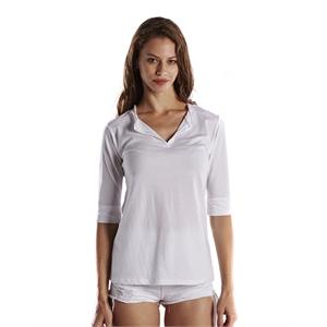 US Blanks® Ladies' 3.5 oz. Elbow Sleeve Footie Tee