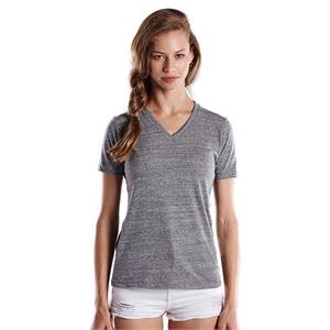 US Blanks® Ladies' 4.9 oz. Short-Sleeve Triblend V-Neck
