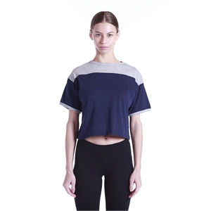 US Blanks® Ladies' 5.8 oz. Boxy Yoke Recycle Tee