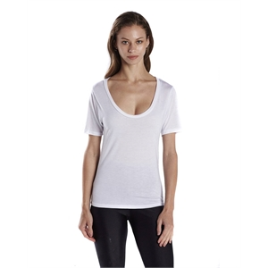 US Blanks® Ladies' 2.5 oz. Short-Sleeve Deep Scoop Neck...