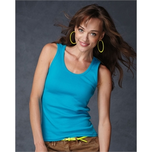Ladies' 2×1 Rib Tank Top