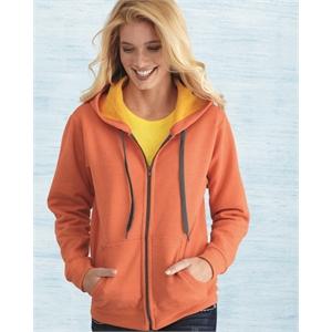 Heavy Blend Women's Vintage Full-Zip Hooded Sweatshirt