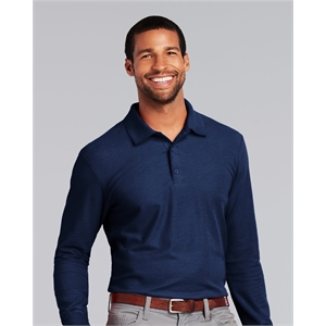 DryBlend(R) Double Pique Long Sleeve Sport Shirt