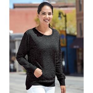 Women's Glitter French Terry Crewneck Sweatshirt